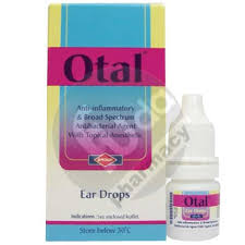 Otal anti inflammatory and broad spectrum antibacterial agent with topical anesthetic