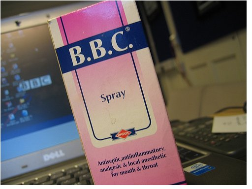 B.B.C antiseptic, anti-inflammatory, analgesic and local anesthetic for the mouth and throat