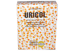 Uricol for urinary antiseptic, antispasmodic and for urinary lithiasis