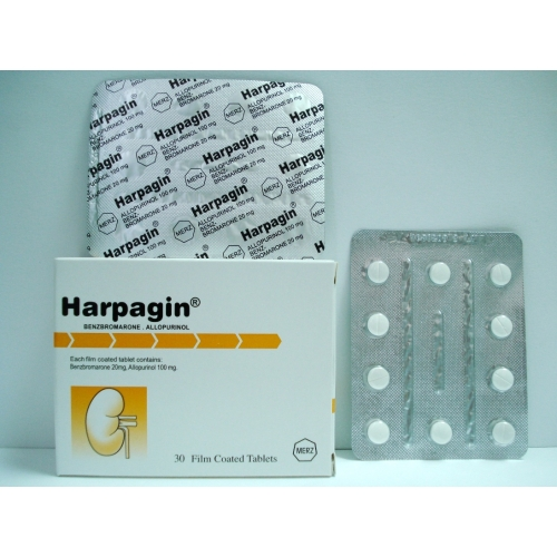 Harpagin for  all forms of uric acid accumulation in blood