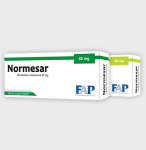 Normesar treatment of essential hypertension and posology and method of administration
